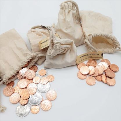 Münzen aus Metal | kupfer, silber oder feinvergoldet. Einzeln oder im Set. | Larp Gruppe | Tischrollenspiel | Gaming | Cosplay |