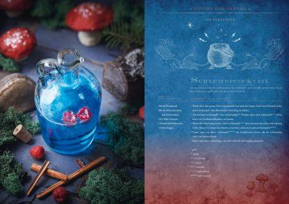 Zauberhafte Küche: ... von Aladin bis Zelda Schlumpfcocktail aus Die Schlümpfe Fotoquelle Zauberfederverlag