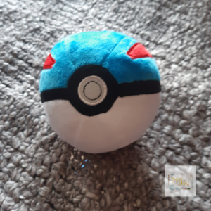 Pokémon Super Ball / Pokeball Tin Blau / Rot Plusch