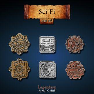 Sci-Fi Set-Legendary Metal Coins