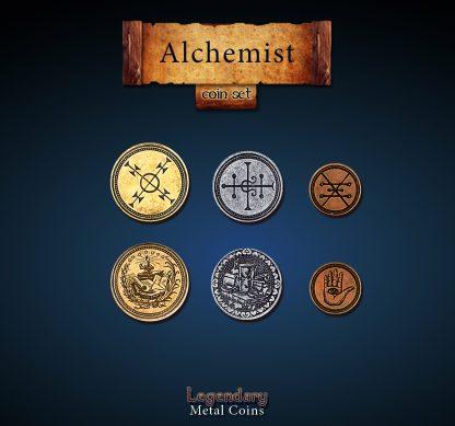 Alchemist Legendary Metal Coins