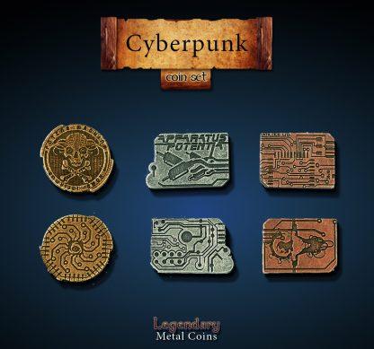 Cyberpunk Legendary Metal Coins