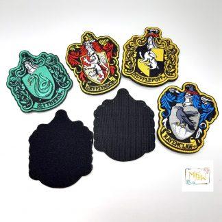 Aufnäher Hogwarts - Gryffindor - Hufflepuff - Ravenclaw - Slythern - Klettpach
