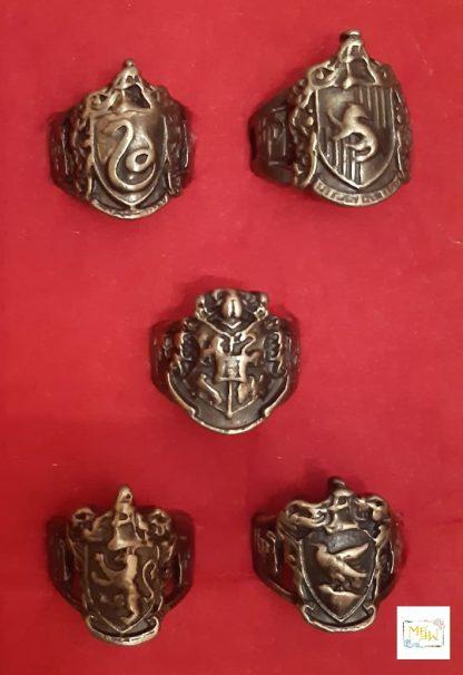 Siegelrings Hauswappen Hogwarts Metall unisex