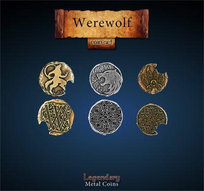 Werewolf Legendary Metal Coins