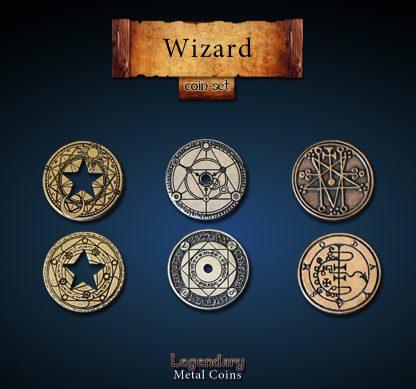 Zauberer - wizard - Legendary Metal Coins
