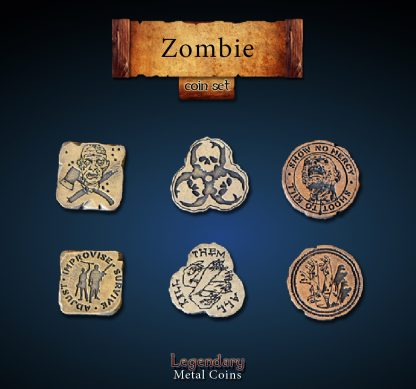 Zombie Legendary Metal Coins