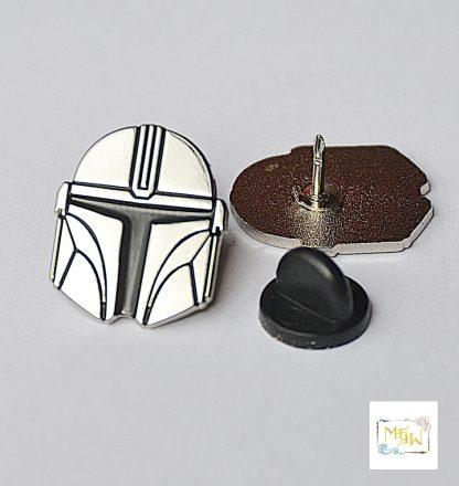 Star Wars Metall Pin Mandalorian Helm Silber - Wien